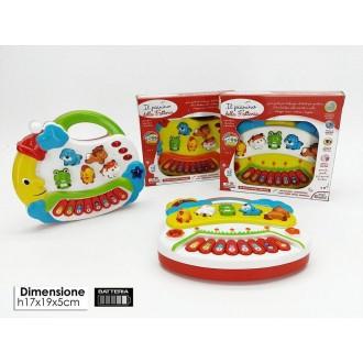General Trade Il Pianino Della Fattoria Con Musica Colori e Pulsanti Multicolore Bambini Neonati