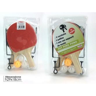 General Trade Set di Ping Pong Racchetta con Palline Colori Assortiti