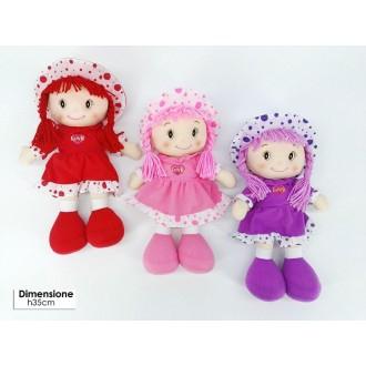 General Trade Bambola Pezza Pois con Vestito, Giocattolo per Bambine