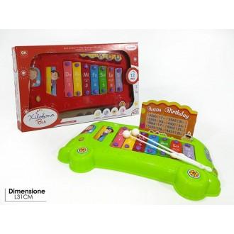 General Trade Xilofono Bus Musicale Con Suoni Colorato e Strumento Musicale Giocattolo per Bambini