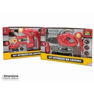 General Trade Kit Attrezzi Da Lavoro Con Accessori Viti e Trapano Rosso Bambini Giocattolo