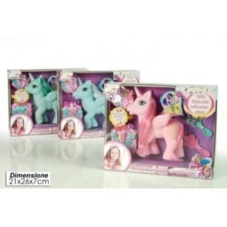 General Trade Unicorno Con Accessori Colori Assortiti con Pettine e Specchio Colorati Giocattolo