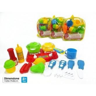 General Trade Set da Cucina Con Zainetto, Giocattolo per Bambini