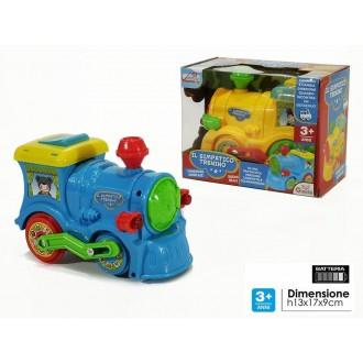 General Trade Il Simpatico Trenino Con Luci e Suoni Treno per Bambini In Due Varianti Blu e Giallo Con Batteria