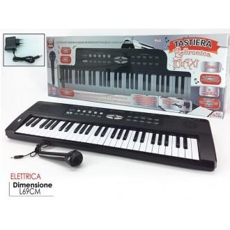 General Trade Tastiera Elettrica Max Con Microfono Nero e Bianco Elettrica
