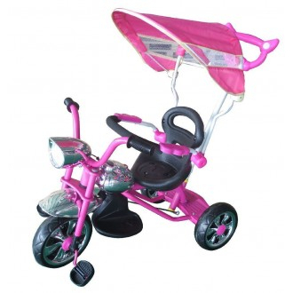 General Trade Triciclo Rosa e Nero Con Rotelle Giocattolo Bambina