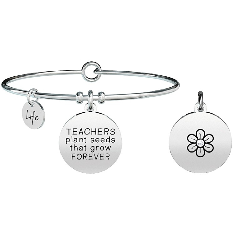 Bracciale Kidult Donna Love TEACHERS PLANT SEEDS THAT GROW FOREVER