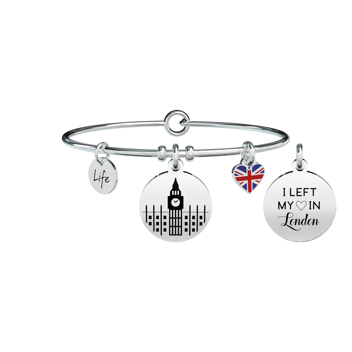 Bracciale Kidult Donna Free Time I LEFT MY HEART IN LONDON