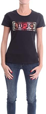 T shirt  con logo full pailettes LIU JO