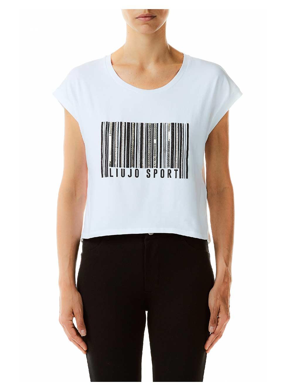 T shirt stampa codice a barre LIU JO