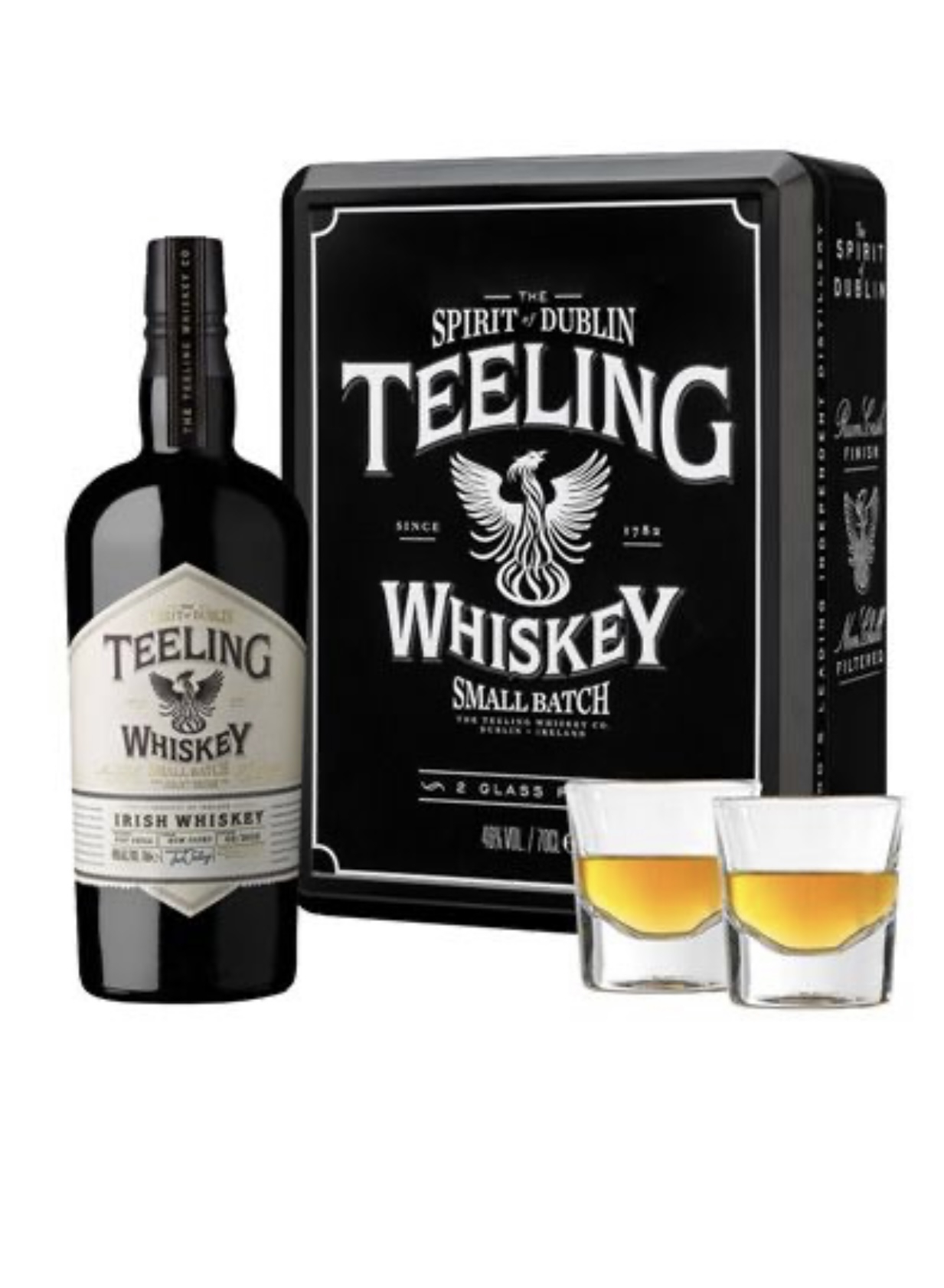 Teeling Small Batch Gift Box con 2 bicchieri