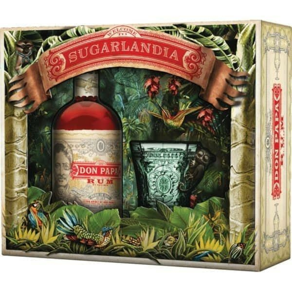 Rum Don Papa confezione bicchiere - SUGARLANDIA