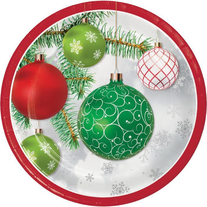 Piatto in cartoncino decoro natalizio cm. 22