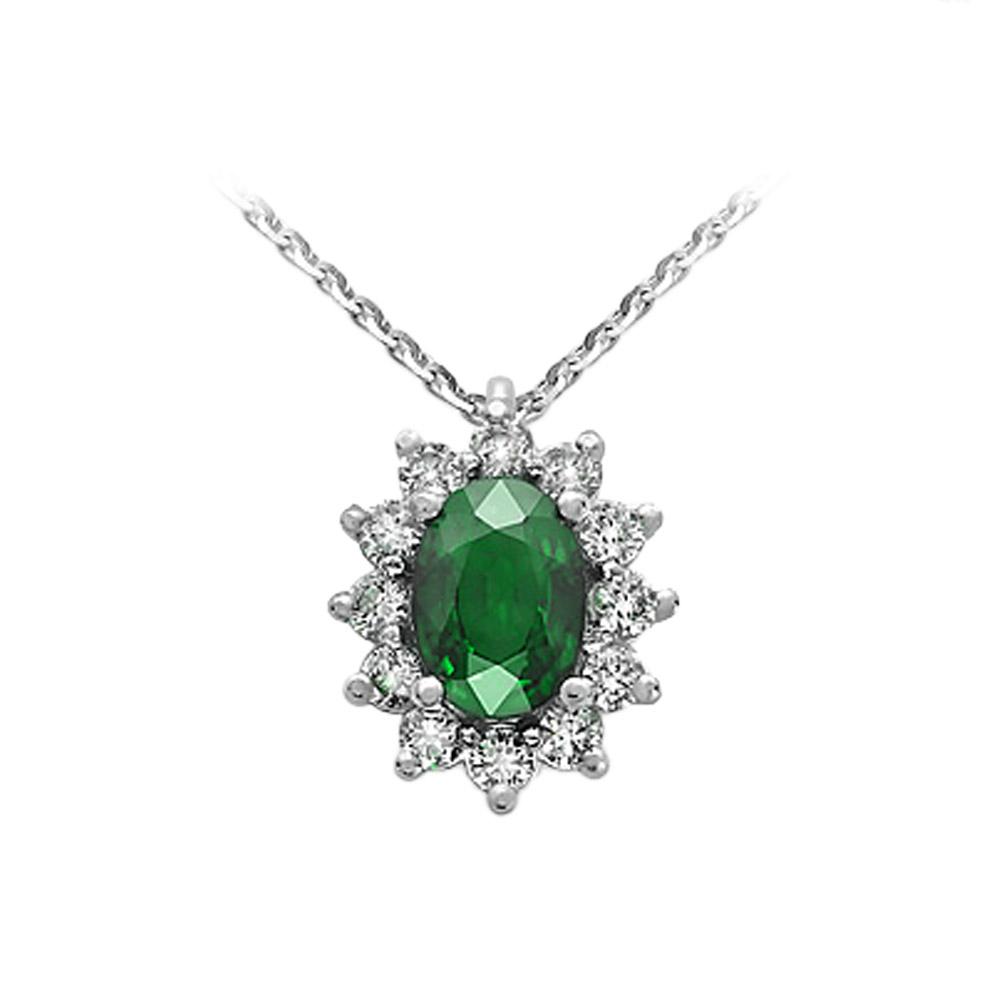 Collana con Smeraldo e Diamanti