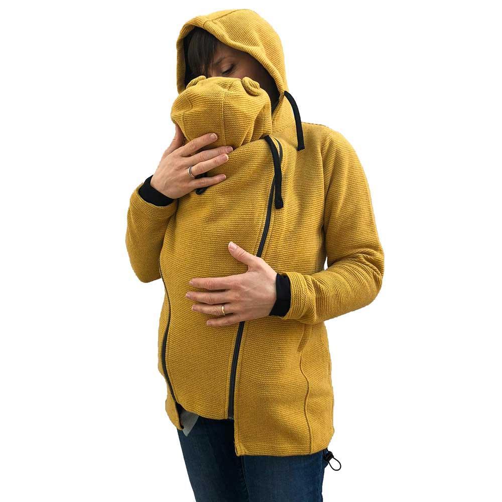 Cappotto per portare 3 in 1 lana senape