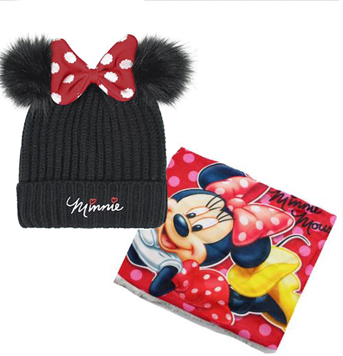 Cappello con Scaldacollo Minnie Veste da 4 a 9 Anni Inverno 2021
