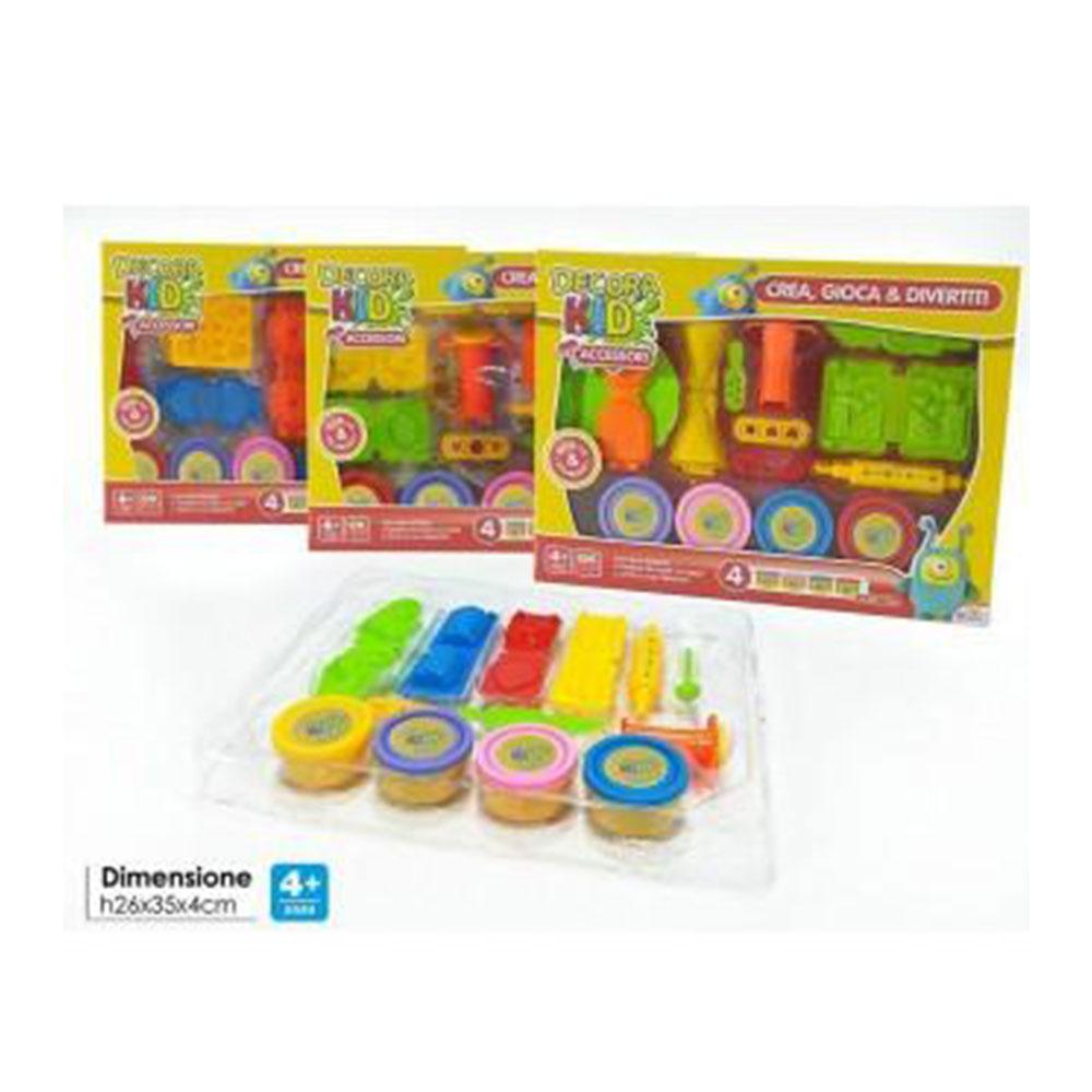 General Trade Decora Kids 4 Barattoli Colore Con Accessori Crea Gioca Divertiti