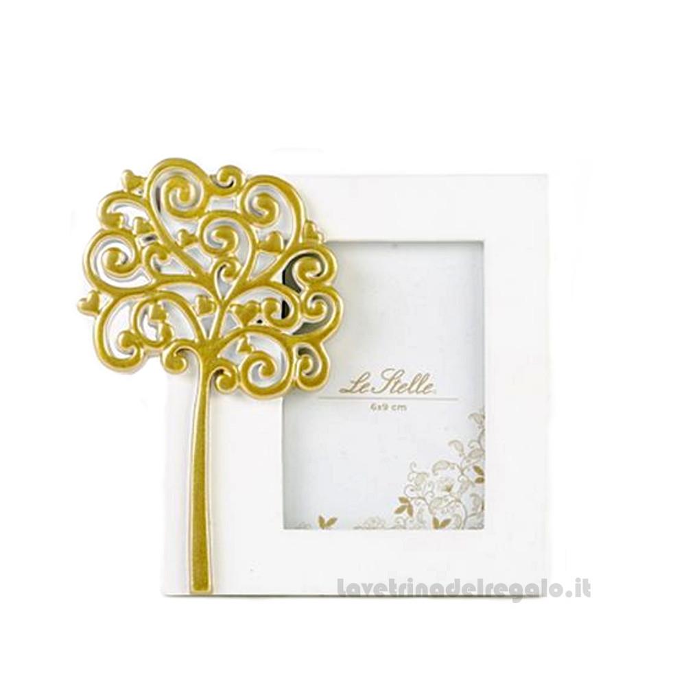 Portafoto con Albero della Vita Oro in resina 12x13 cm - Bomboniera