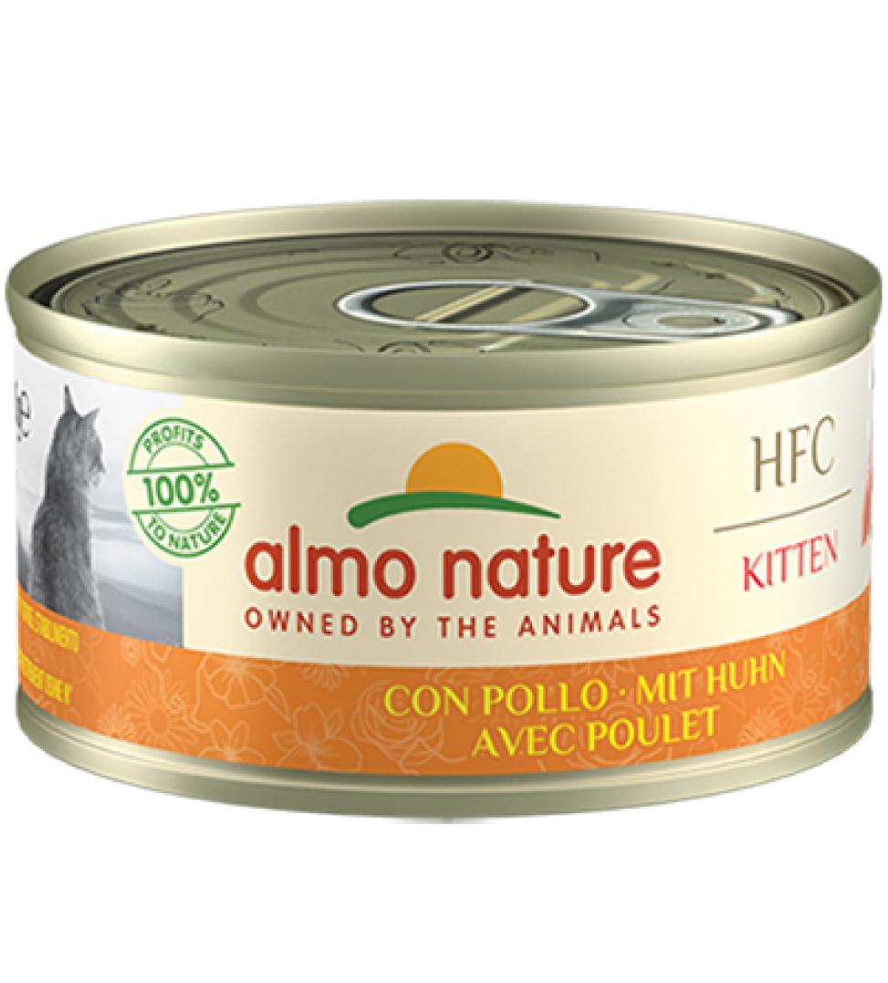 Almo Nature - HFC Cat - Kitten - Pollo - 70g x 6 lattine