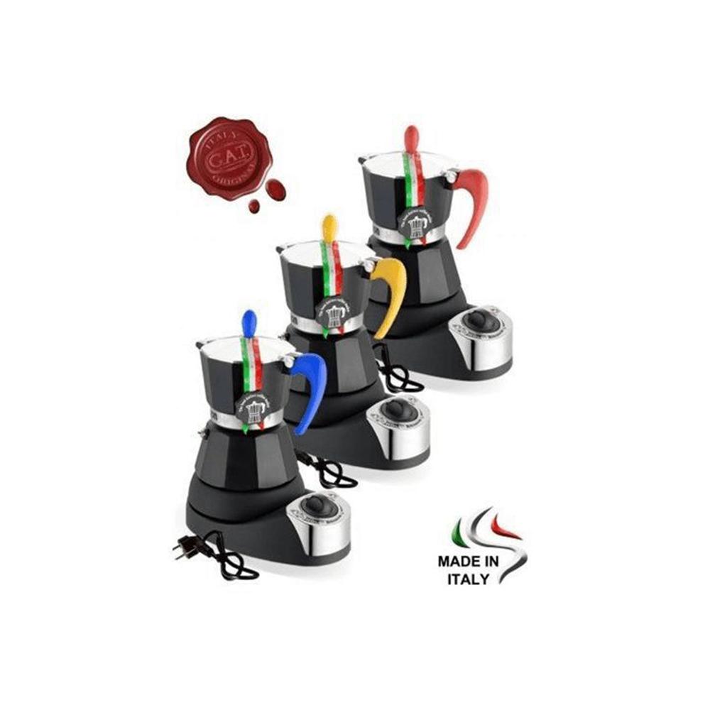 Caffettiera Elettrica Color Nero 4 Tazze Modello Nerissima