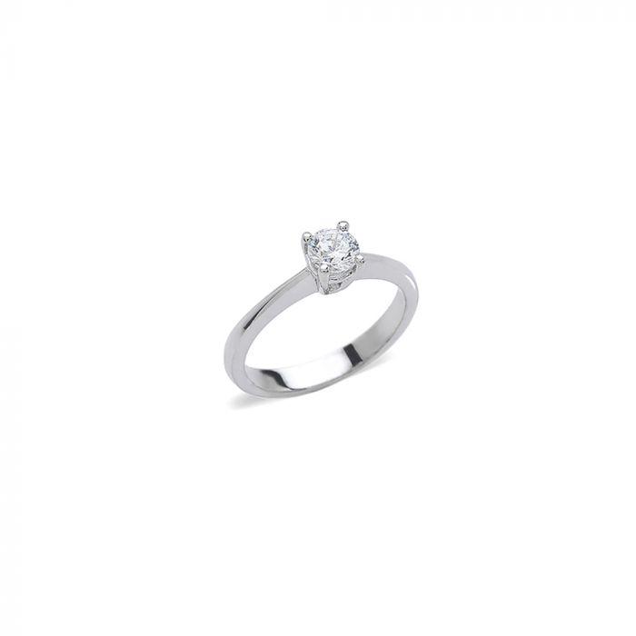 Anello Solitario con diamante ct. 0,40 F-VS