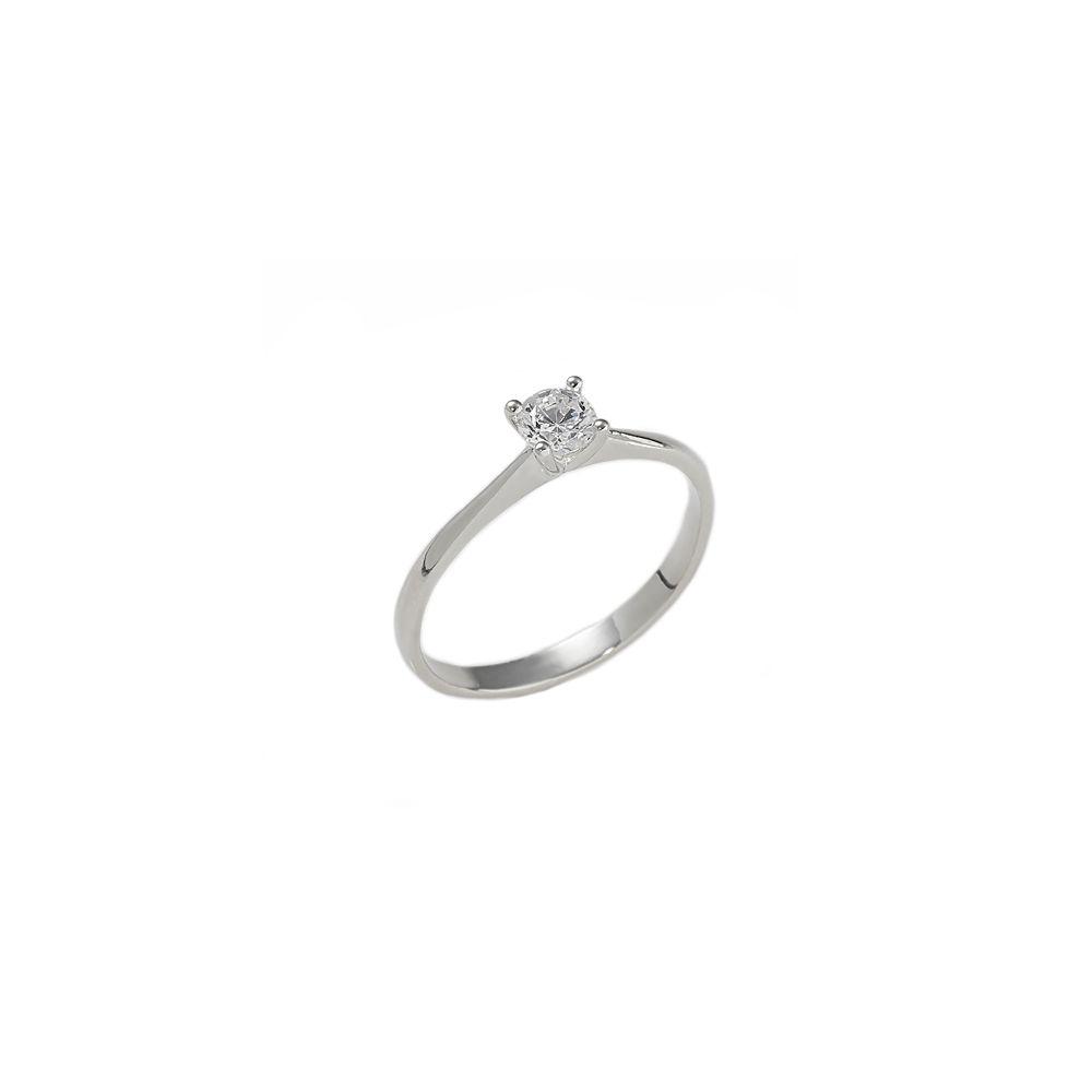 Anello Solitario con diamante ct. 0,25 F VS