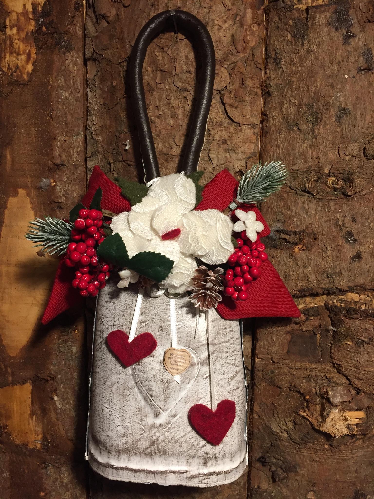 Campanaccio decorato sbiancato