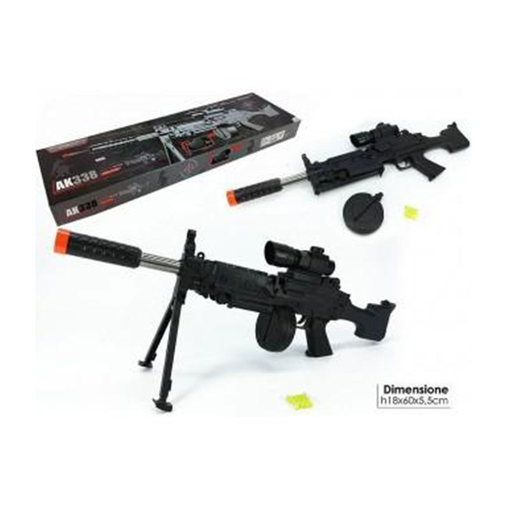 General Trade Fucile AK-338 Con Laser Fucile Da Guerra Giocattolo Bambino Nero