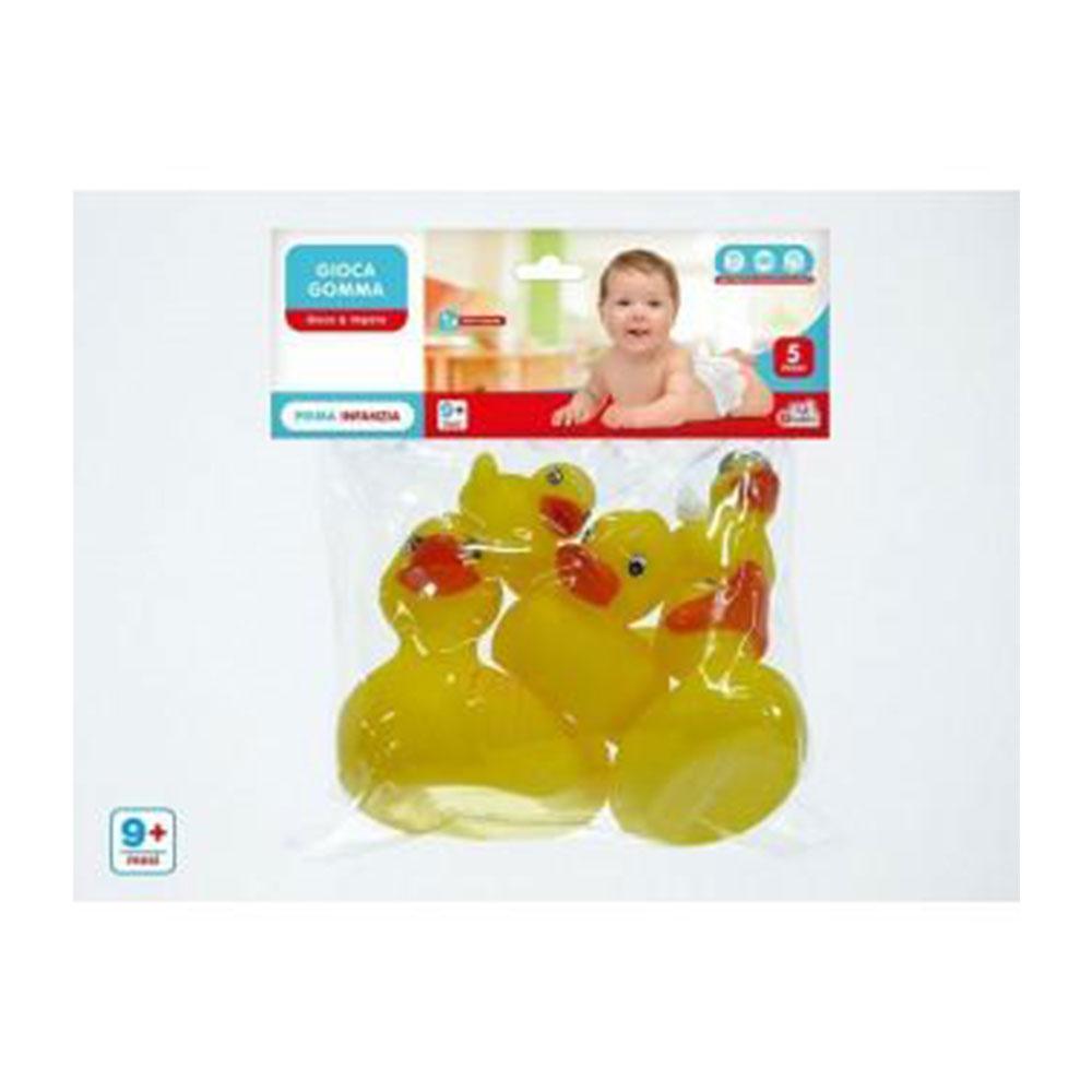 General Trade Giocattolo In Gomma 5 Paperette Gialle Neonato Baby Soffice
