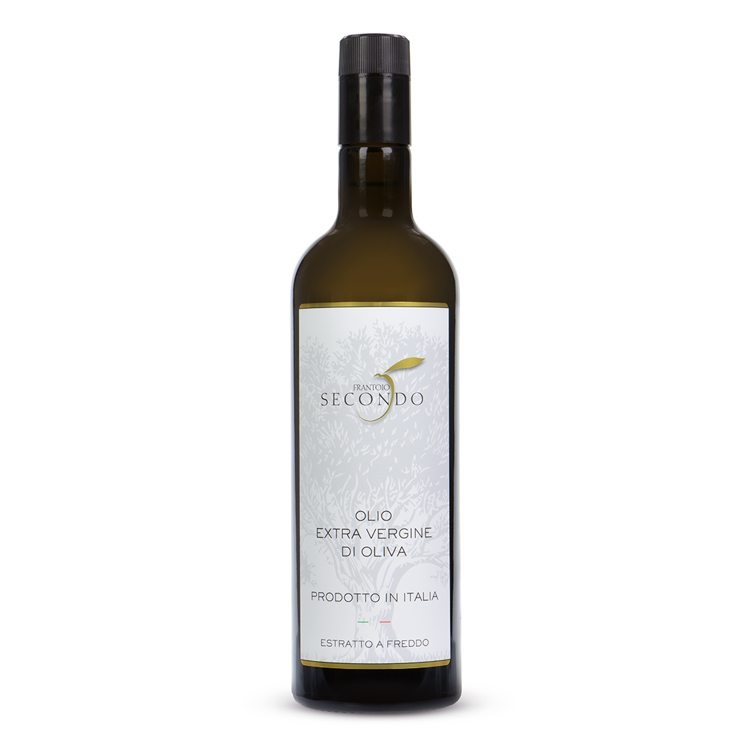 Olio extra vergine di oliva 100% italiano   Bottiglia da 0,75 lt.