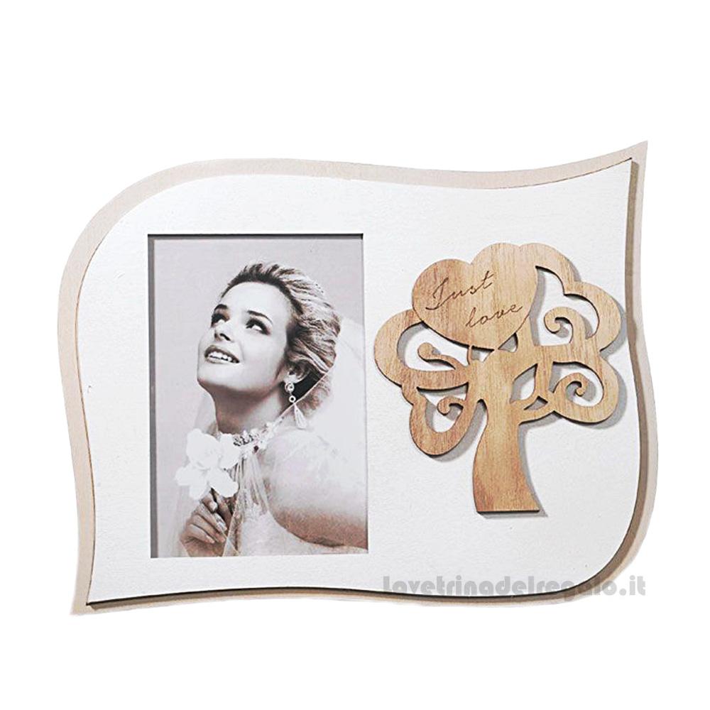 Portafoto con Albero della Vita in legno 28x22 cm - Bomboniera matrimonio