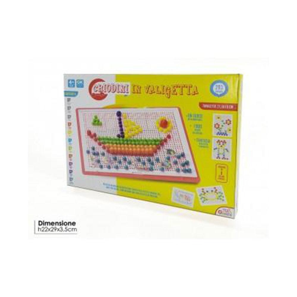 General Trade Gioco Chiodini Mix Di 320 pezzi Giocare Colorare Creare Forme Gioco Interattivo