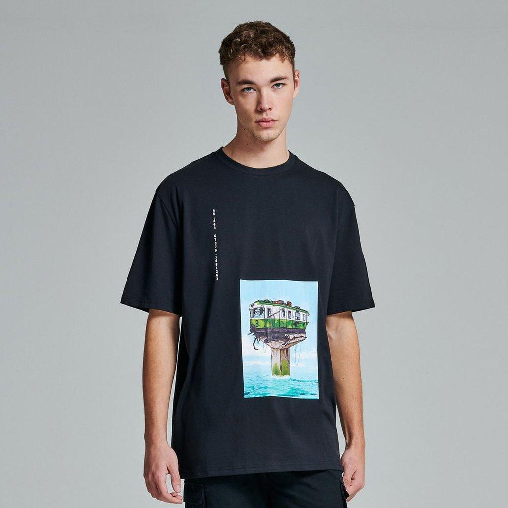 T-Shirt Dolly Noire Waterworld Black