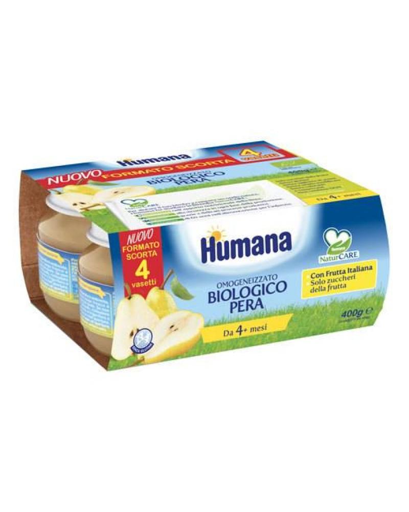HUMANA OMOGENEIZZATO PERA BIOLOGICO 4X100G