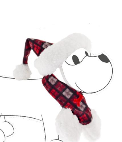 Cappello Natalizio e sciarpa per cane e gatto  Ferribiella