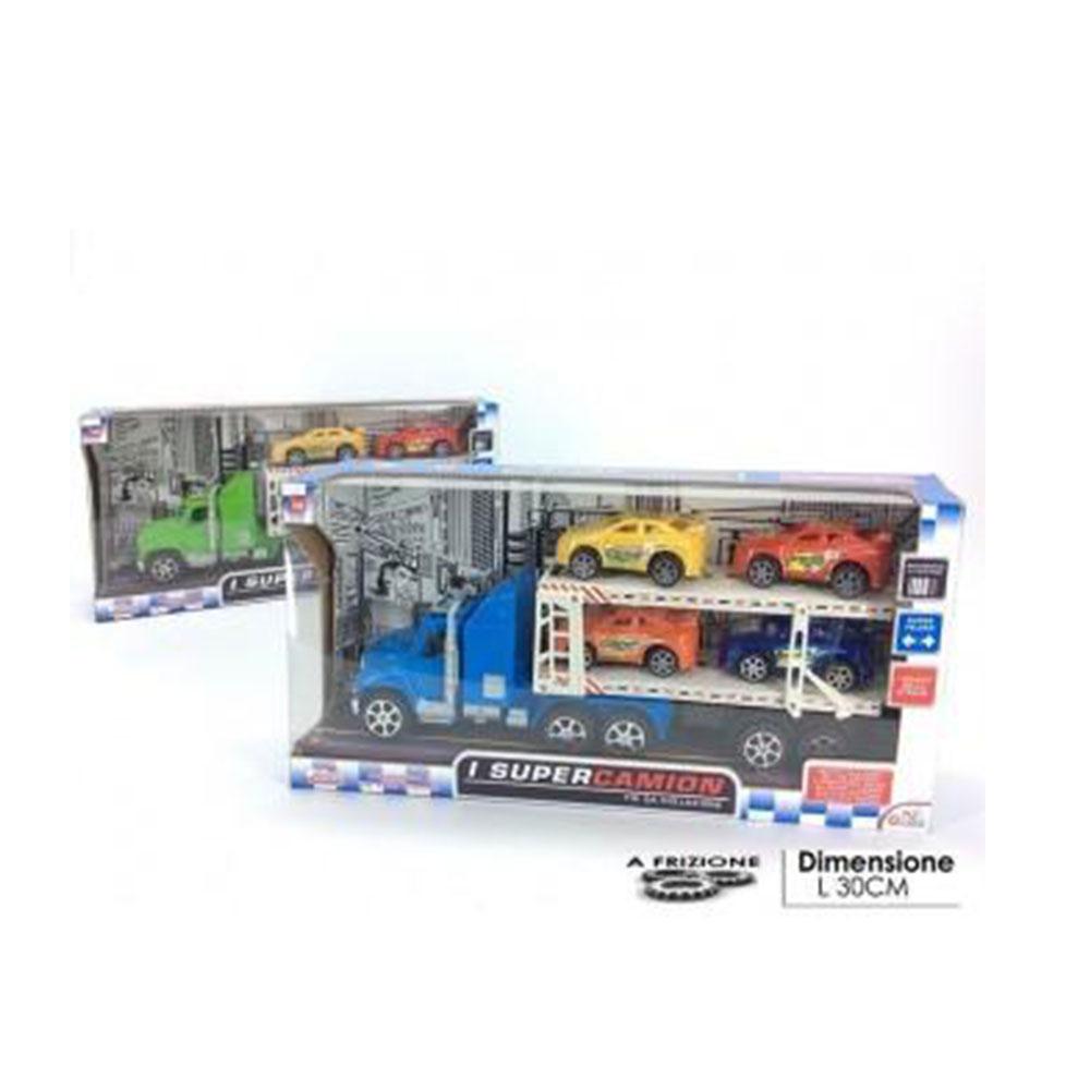 General Trade I Super Camion A Frizione Con Rimorchio Colorato Per Bambini Modellino