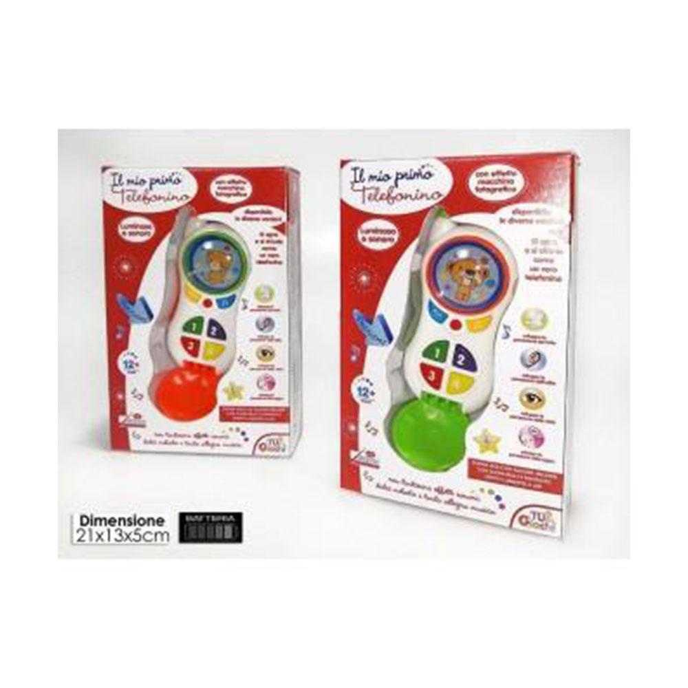 General Trade Il Mio Primo Telefonino Per Bambini Neonati Con Suoni e Pulsanti Colorati Multicolore
