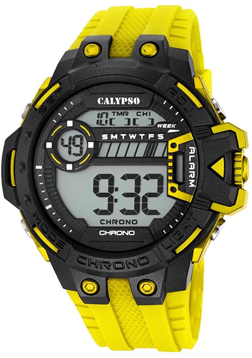 Calypso Orologio uomo digitale con cinturino in silicone giallo K5696/1