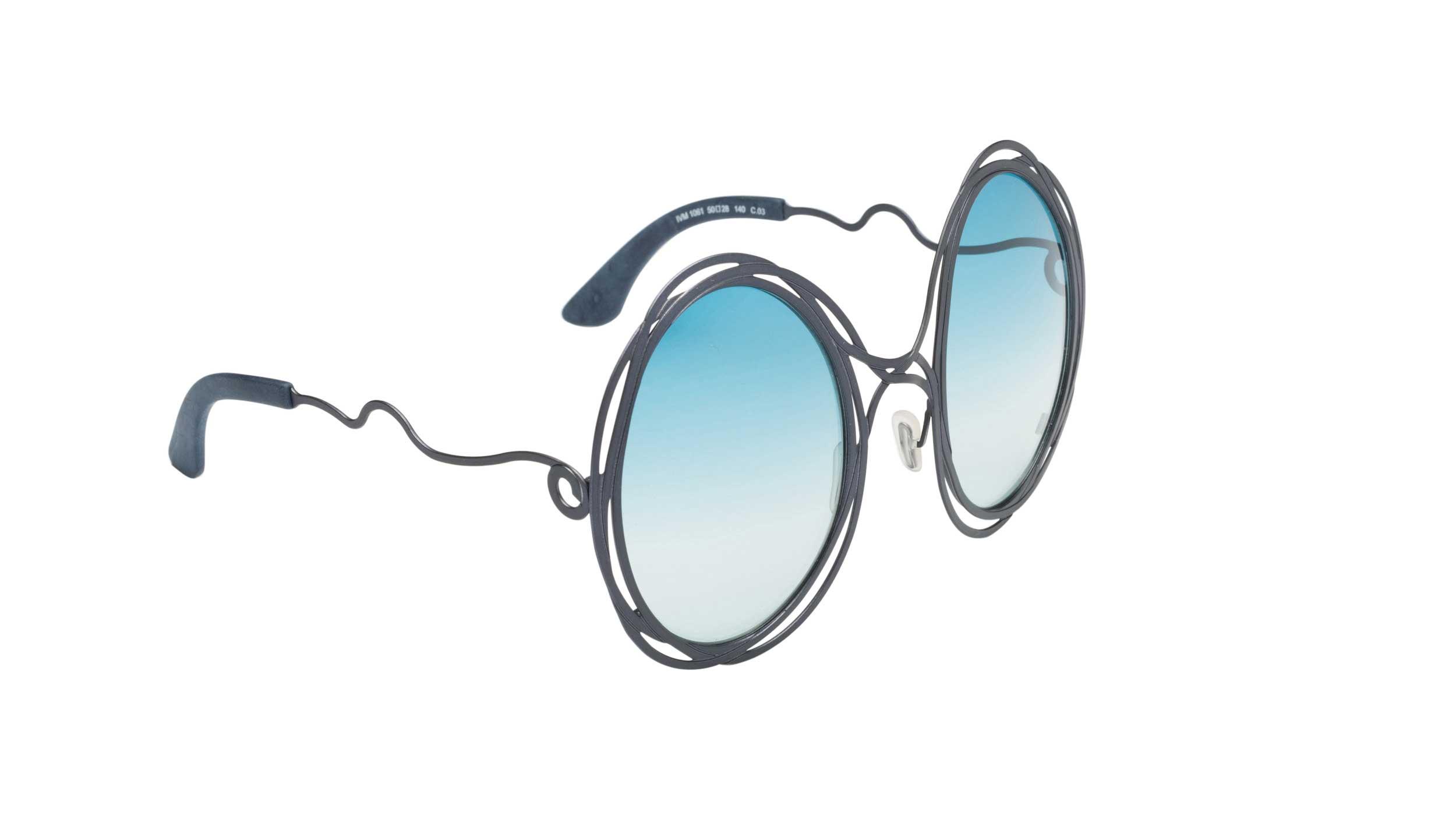 Occhiali da sole Fil di Ferro asta blu lente azzurra