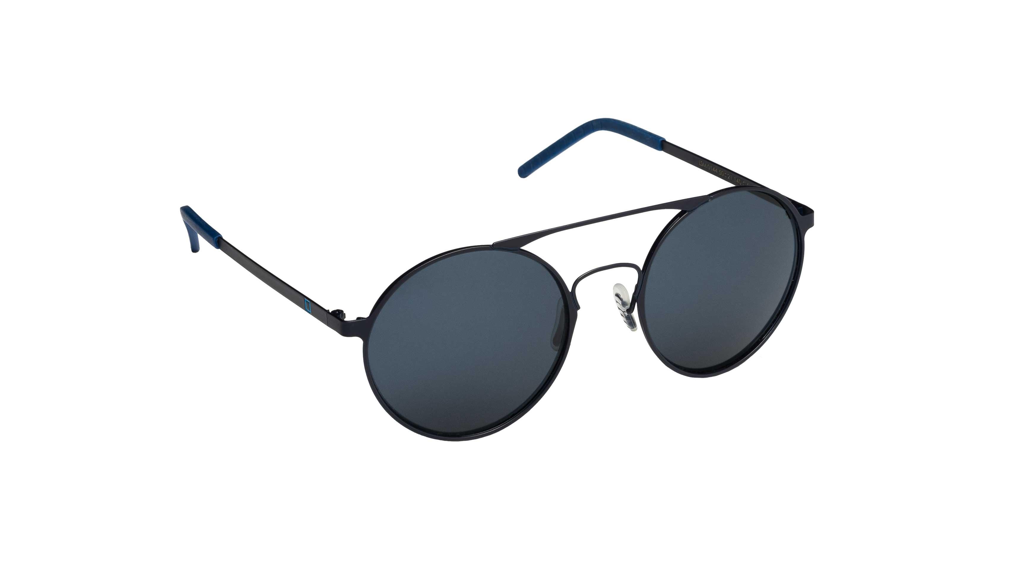 Occhiali da sole Mediterraneo asta nera lente blu