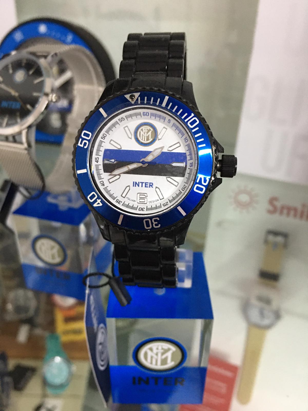 orologio ufficiale FC Inter con cinturino in pvd nero