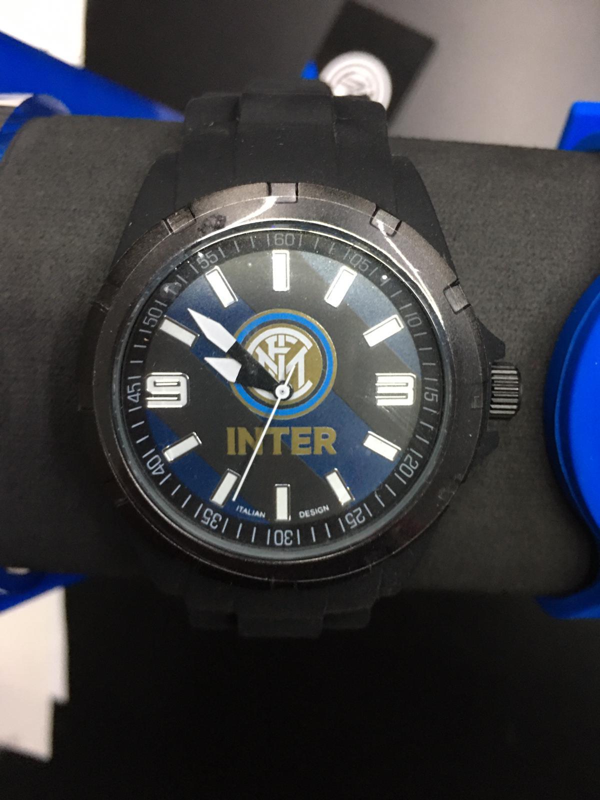 orologio ufficiale FC Inter con cinturino in gomma