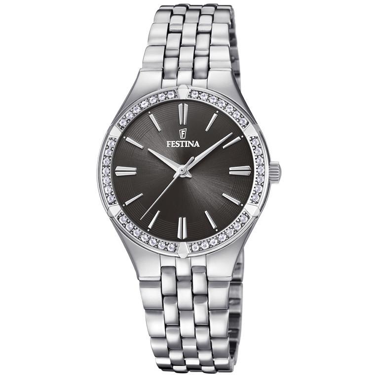 orologio in acciaio donna festina solo tempo f20223/2