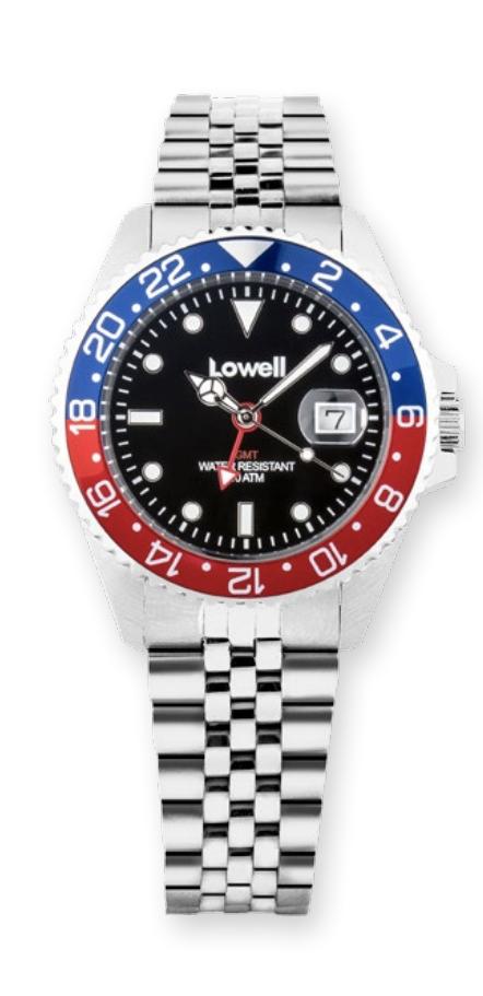 Orologio unisex in acciaio GMT modello rolex Pepsi maglia giubilee