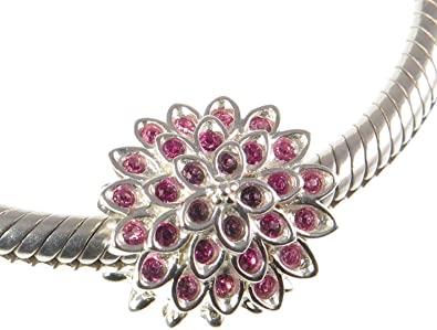 Chamilia Charm Argento 925 in Bloom Fiore con Swarovski rosa 8010-0055
