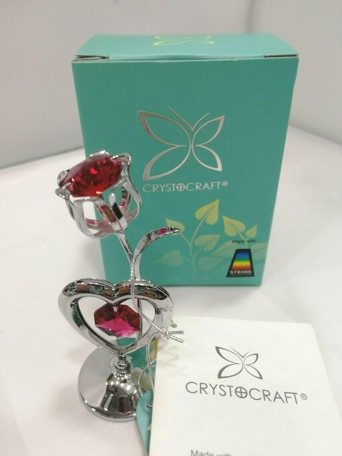 Fiore con cuore Crystocraft Cristalli Swarovski Original U0175-001-CRE