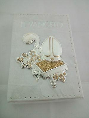 Vangelo tascabile con copertina in pelle bianca cod. OGG22.00