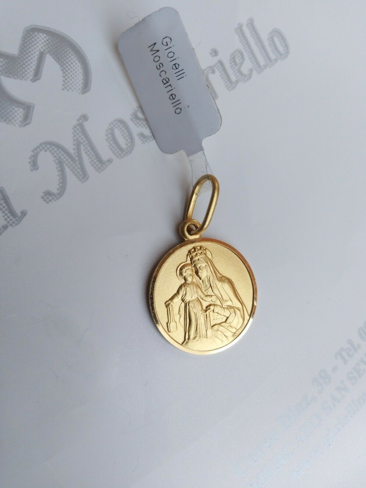 Madonna del Carmelo oro giallo 18 kt 750% Pendant yellow gold 18 kt 750% 12/20