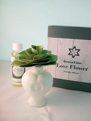 Profumatore Diffusore Green Time Love Flower ZWD301A verde