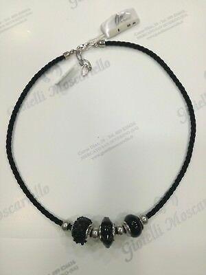Collana donna Osa cod. 70101 nero con ciondolo perla di murano